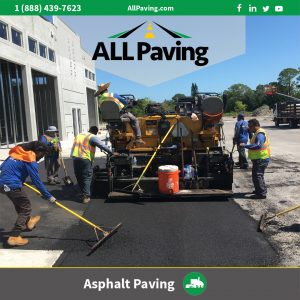 asphalt Paving at a commercialParking lot