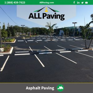 Symmetric Asphalt parking lot