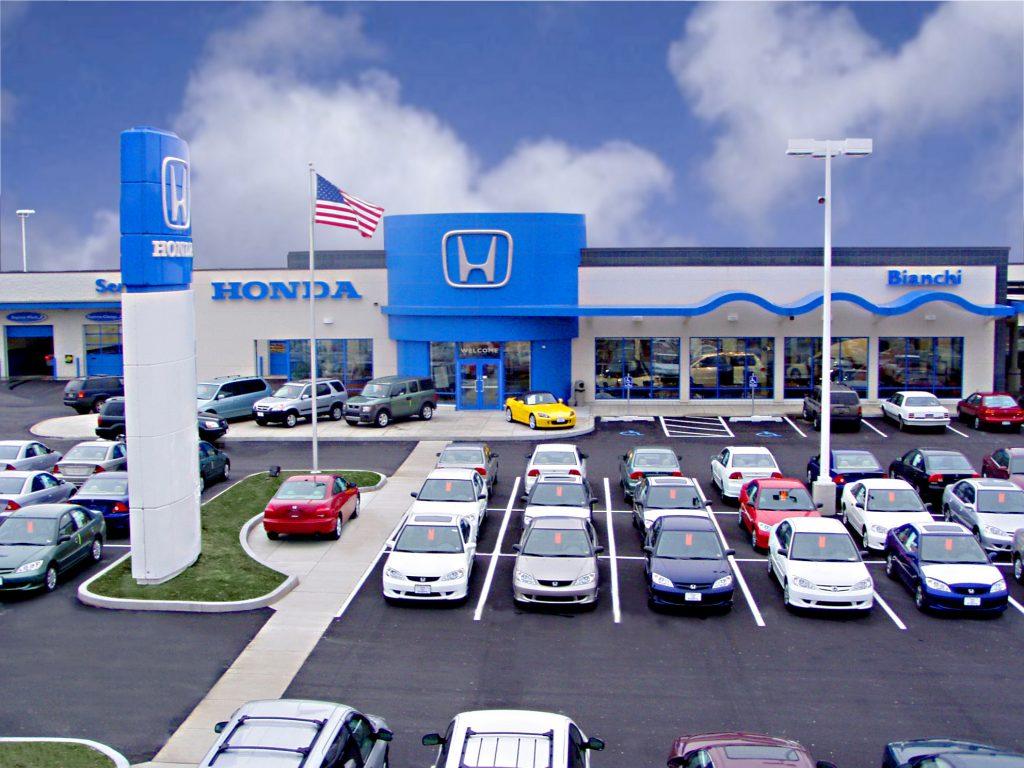 Car Dealership Paved Parking Lot